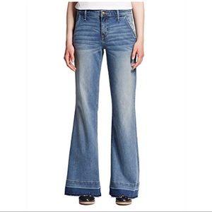 Mossimo High Waist Wide Leg Jeans with Frayed Hem